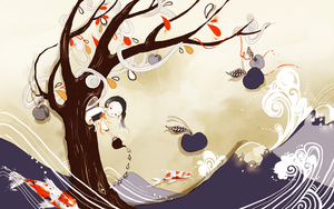 My Blue Cherry Tree by Pochi-mochi