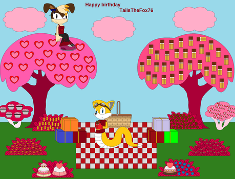 Backgorund Candy Happy birthday TailsTheFox76 by Vickicutebunny