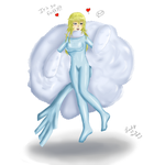 Mega Altaria Latex Suit (Webmas Present) by Lady-of-Mud