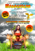 MADAGASCAR PRINT PARTY FLYER by DeityDesignz