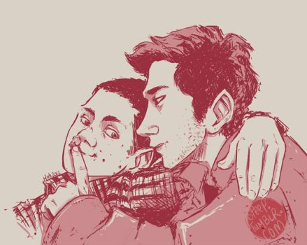 Stiles + Derek by speep