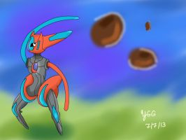 Deoxys (Speed Forme) by YoshiGamerGirl