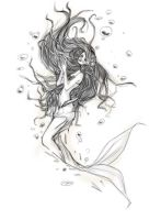 Sketch mermaid by ovod