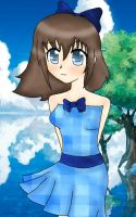 Blue anime girl by MegumiHeart