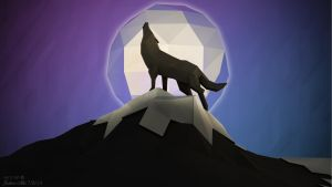 Low Poly - A Wolf's Night by SKIGZdoesART