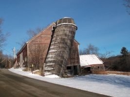 Leaning Silo in Vermont 6 by TheGreatWiseAss