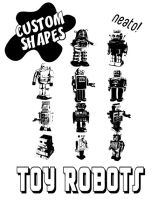 PS Custom Shapes- Toy Robots by bozoartist
