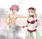 Collab Genie Natsu and Lucy by LoloHime