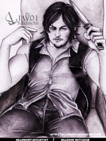 Daryl Dixon The walking dead by zelldinchit