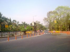Deserted streets after zombie attack by artbhatta