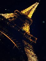 Eiffel Tower at Night by cheekz-jess