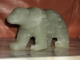 Bear made from soapstone by Kreativjunkie
