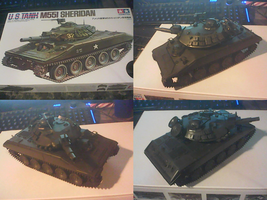 Tamiya 1/35 scale M551 Sheridan Work in Progress by Tank50us