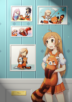 Mirai Suenaga and Red panda by TSnow