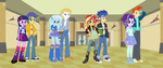 EQG: The Magical Quartet and her Guards by 3D4D