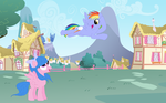 Rainbow Dash's parents, with bios. by Regreme