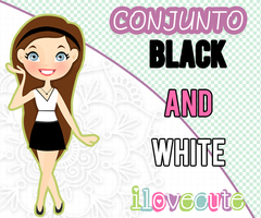 Conjunto Black and White by IloveCute1220