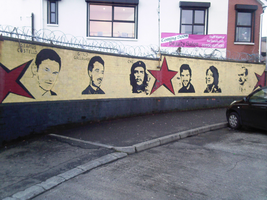 Left-wing republicans mural by Keresaspa