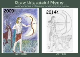 Draw This Again Meme 'Artemis' by Deorse
