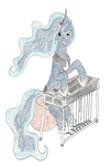 Luna with Steel Guitar by Fhaolan