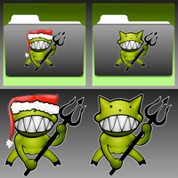 Demonoid + Demonoid Christmas Icons by stumpy666davies