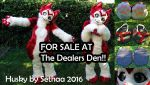 Red Kemono Husky FOR SALE at The Dealer Den by Sethaa