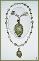 Green Tree Necklace by jankolas