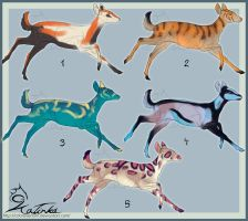 Fantasy Deer Point Adoptables: Batch Three CLOSED by CobraVenom