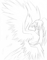 The Angel of Emo Hair by Leucrotta