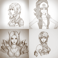sketches from 2016 by raikoart