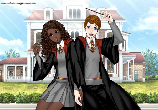 Ron and Hermione by SingerofIceandFire
