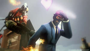 Team Fortress 2 (TF2) - pyro and spy by ViewSEPS