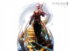 Lineage II dark elf by DrawenZzZz