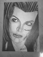 Mill Jovovich- Resident evil Afterlife by DiablossArt