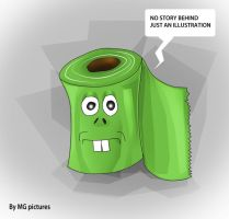 MR GREEN TOILET PAPER ILLUSTRATION 2015 by macgcandy