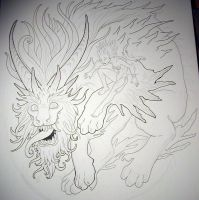 ink work for dragon thing by missmonster