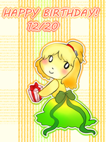 12/20 Happy Birthday Isabelle! by MakotoZhen