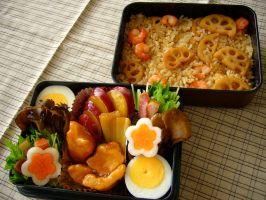 simmered chicken bento by japanbento