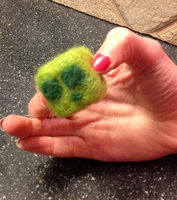 Jerry (Minecraft slime) Needle Felt by the-pink-dragon