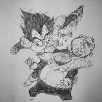 Vegeta Destroys Guldo by unionjake
