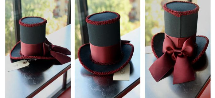 IF: Ruby Iniquity Mini Tophat by A-Little-White-Lie