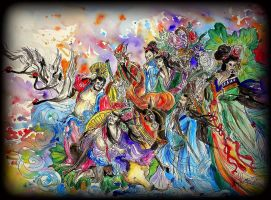 The Eight Immortals by TamiTw