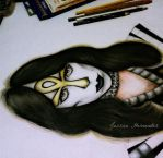 Vinnie Vincent - The Ankh Warrior- KISS Progress by JessicaHernandez