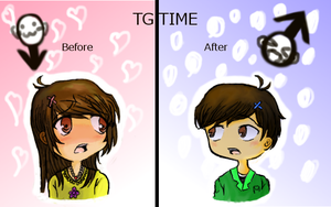 My first try at tg XDDD / art trade by baileyjustin14
