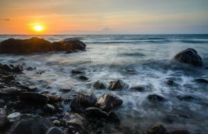 Sunset at Senggigi by Marventyo
