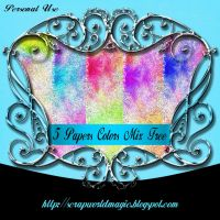 5 Papers Colors Mix Free by weezya