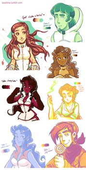 Deponia Color Palette Challenge by Berylunee