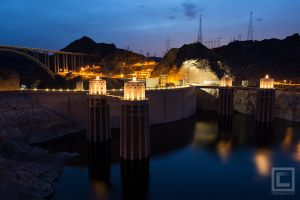 Hoover Dam at Dusk by soak2179