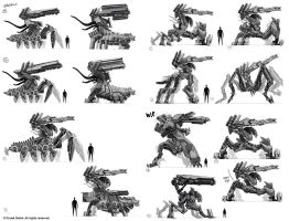 Crysis 3 thumbnail mech concepts by Trudsss