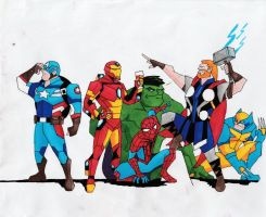 Cartoon Marvel #1 by Julalesss